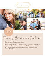 Outdoor Family Photo Session - Deluxe